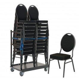 Actiepakket: 20 stapelstoelen Basic Pro in transportkar