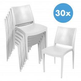 Voorraadopruiming: 30 terrasstoelen Elegance (wit)