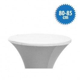 Topcover Stretch Ø 80-85 cm, kleur wit