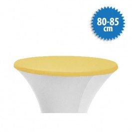 Topcover Stretch Ø 80-85 cm, kleur cream