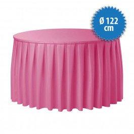 Combiskirting Boxpleat Ø 122 cm, kleur roze