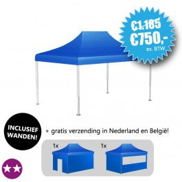 Bodemprijs: Easy Up Tent S-LIGHT 345, met ultrasterk zeil (35% korting!)