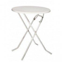 Statafel Basic, frame wit, tafelblad wit Ø 70 cm