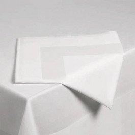 Tafelkleed katoen wit met satijnband