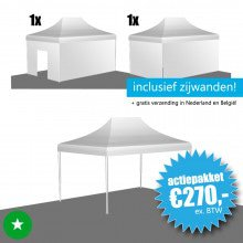 Opruiming: Easy Up Tent 3x4,5 ECO (polyester)
