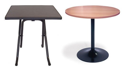 Stapelbare en inklapbare tafels direct uit voorraad leverbaar vvep